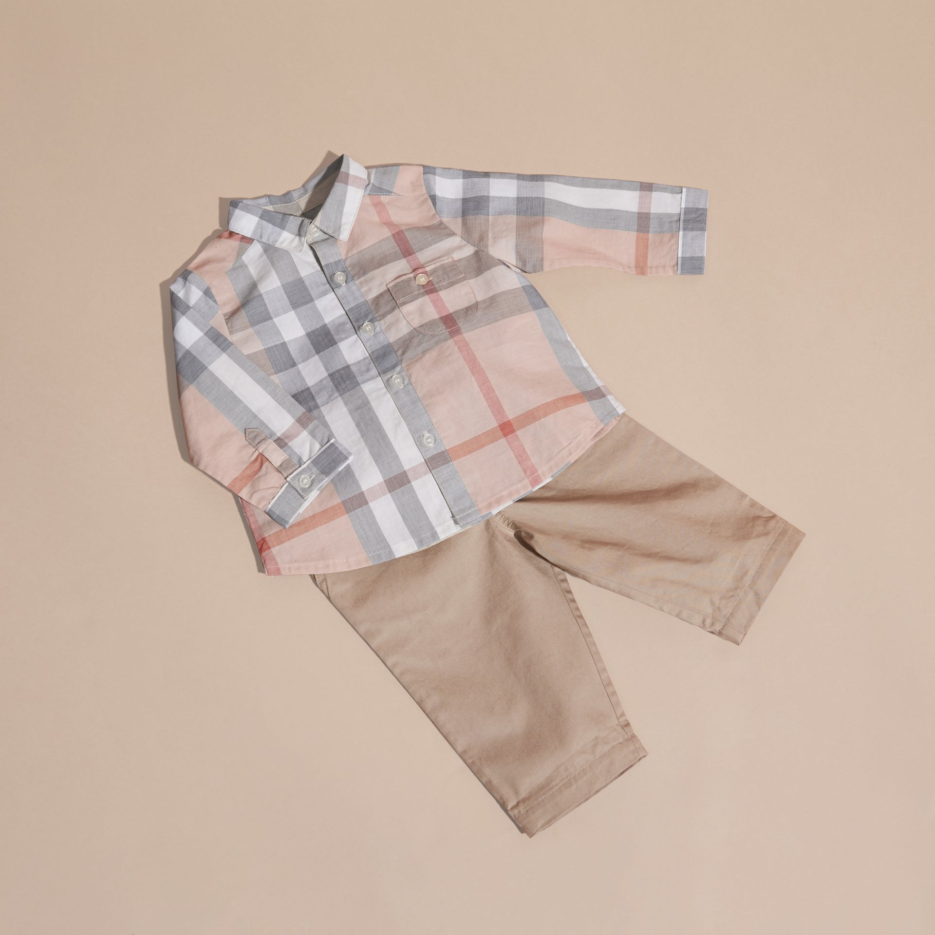 Cotton Six-piece Baby Gift Set in White - Children | Burberry - gallery image 4