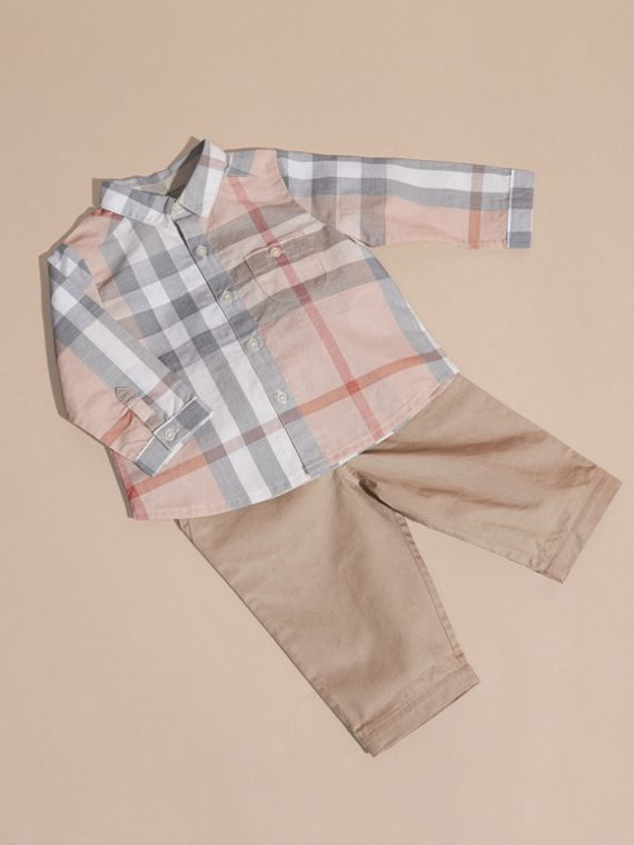 Cotton Six-piece Baby Gift Set in White - Children | Burberry - cell image 3