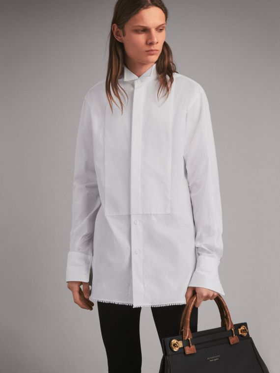 Macramé Trim Cotton Evening Shirt