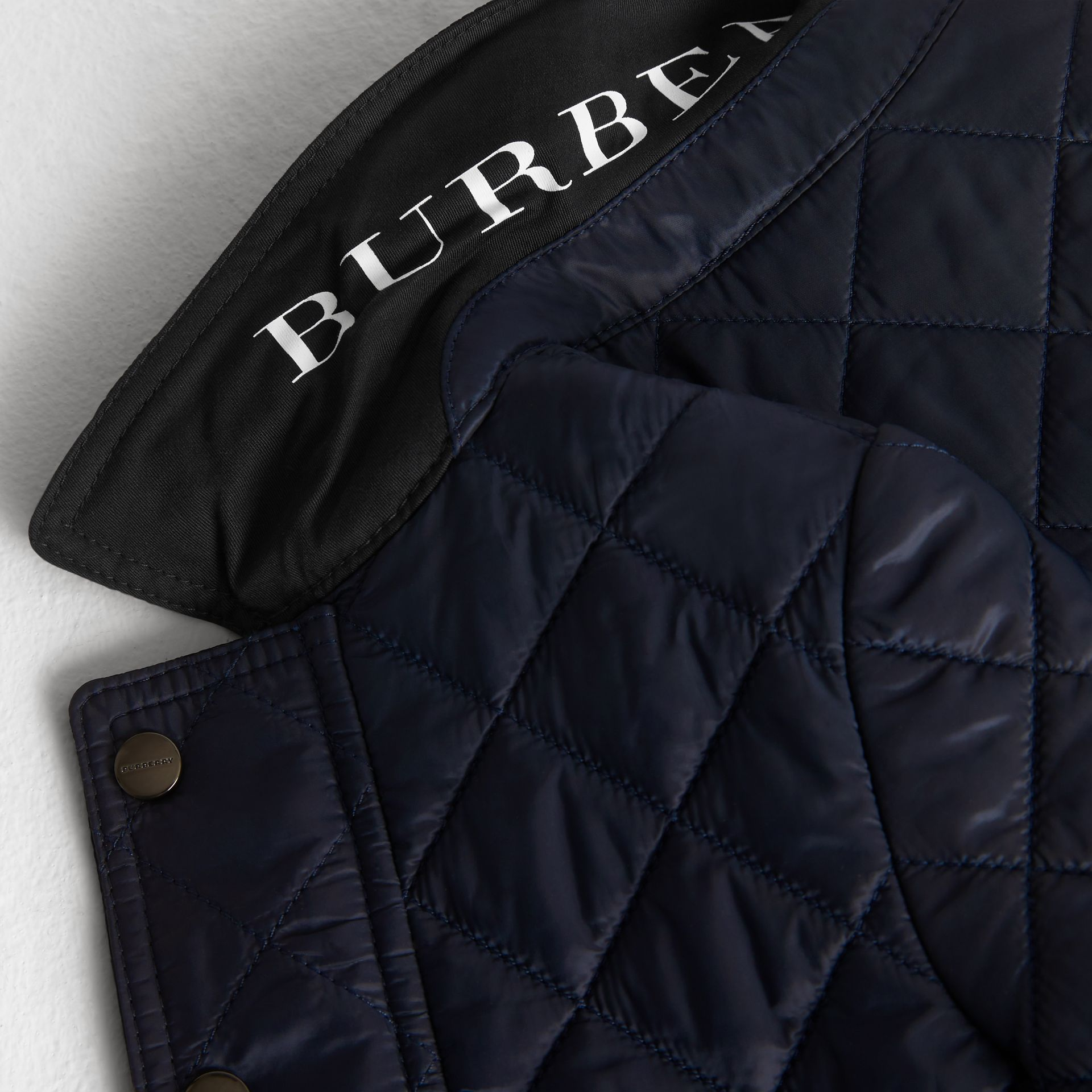Lightweight Diamond Quilted Jacket in Ink - Children | Burberry - gallery image 1