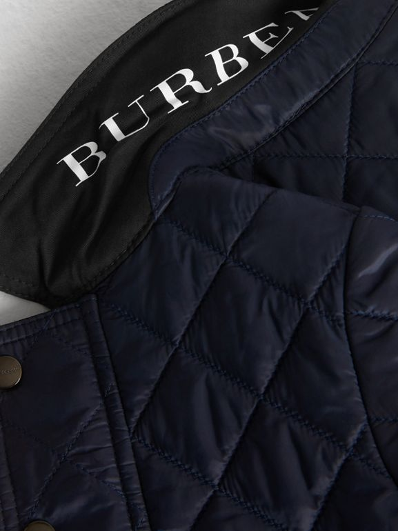 Lightweight Diamond Quilted Jacket in Ink - Children | Burberry - cell image 1