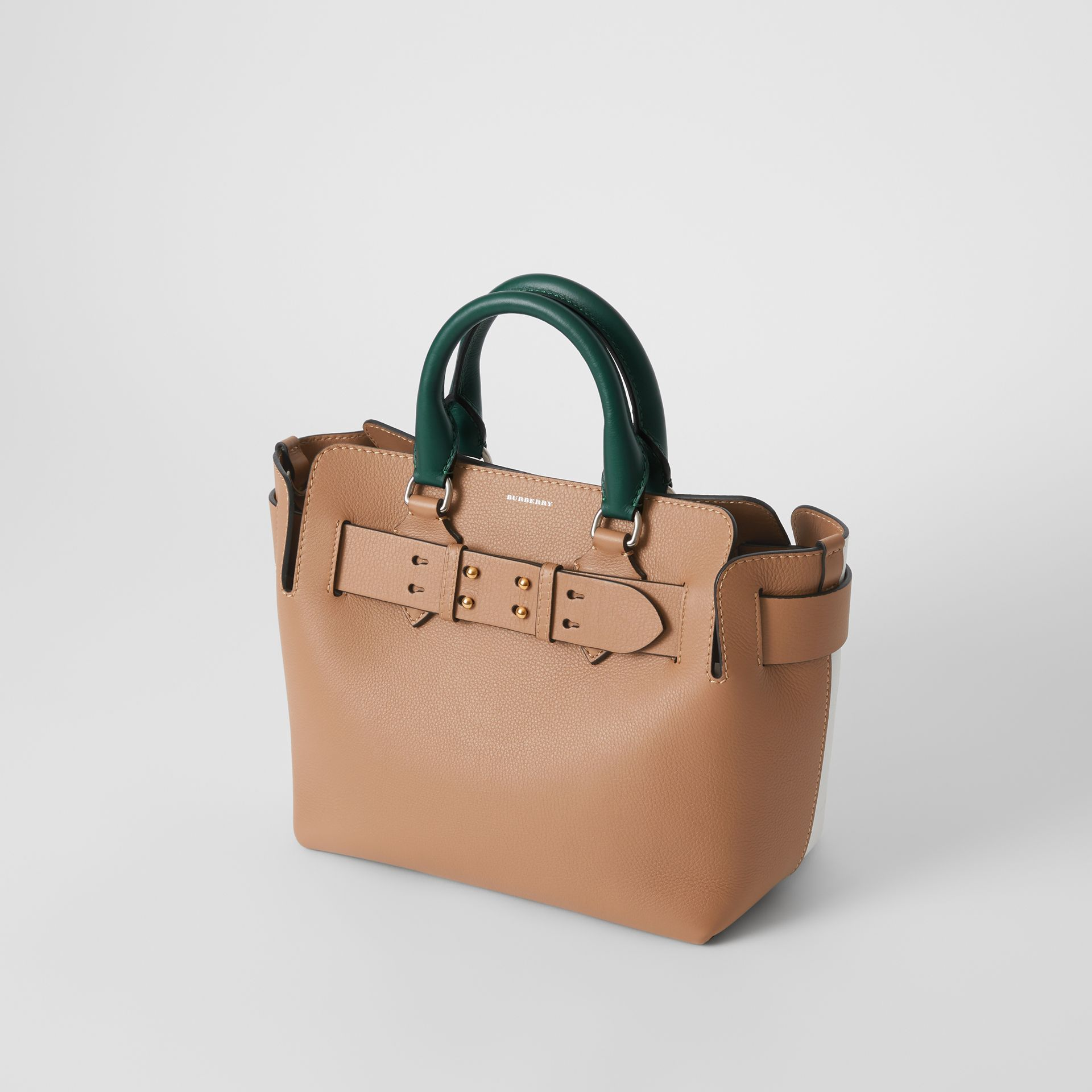 The Small Tri-tone Leather Belt Bag in Light Camel - Women | Burberry United Kingdom - gallery image 4