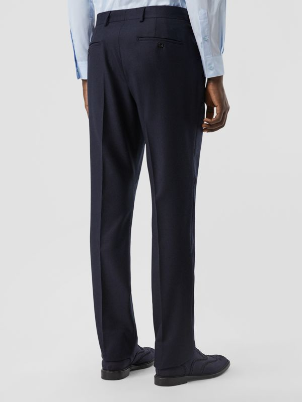 Classic Fit Wool Flannel Tailored Trousers in Navy - Men | Burberry - cell image 2