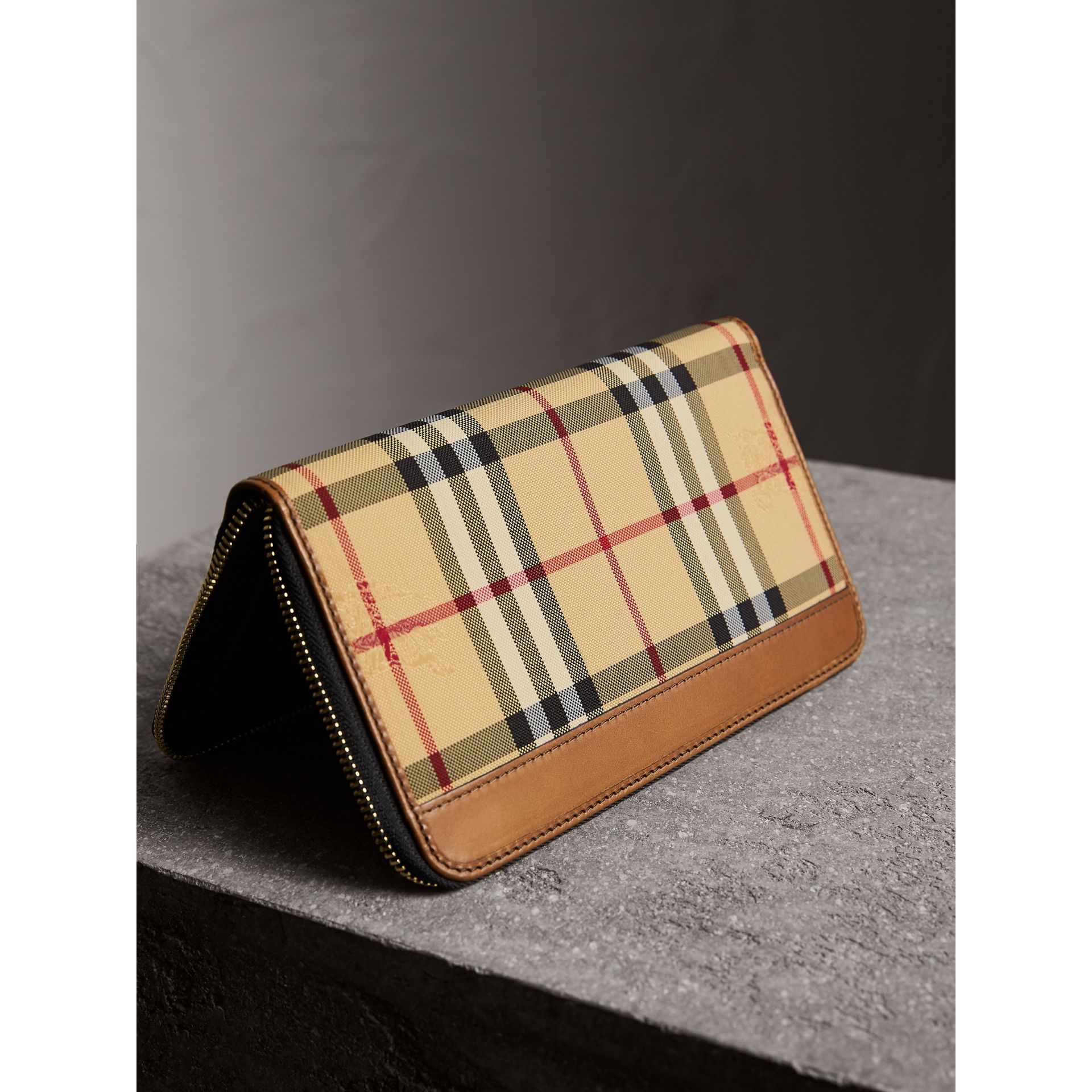 Horseferry Check Ziparound Wallet in Tan - Men | Burberry Singapore - gallery image 3