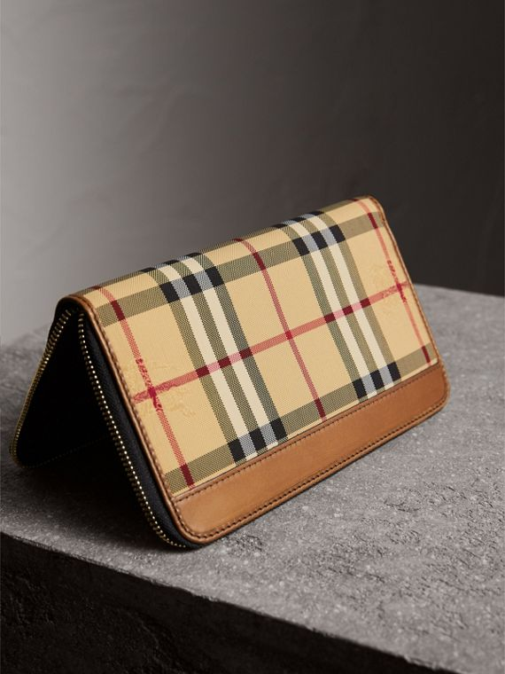 Horseferry Check Ziparound Wallet in Tan - Men | Burberry Singapore - cell image 2