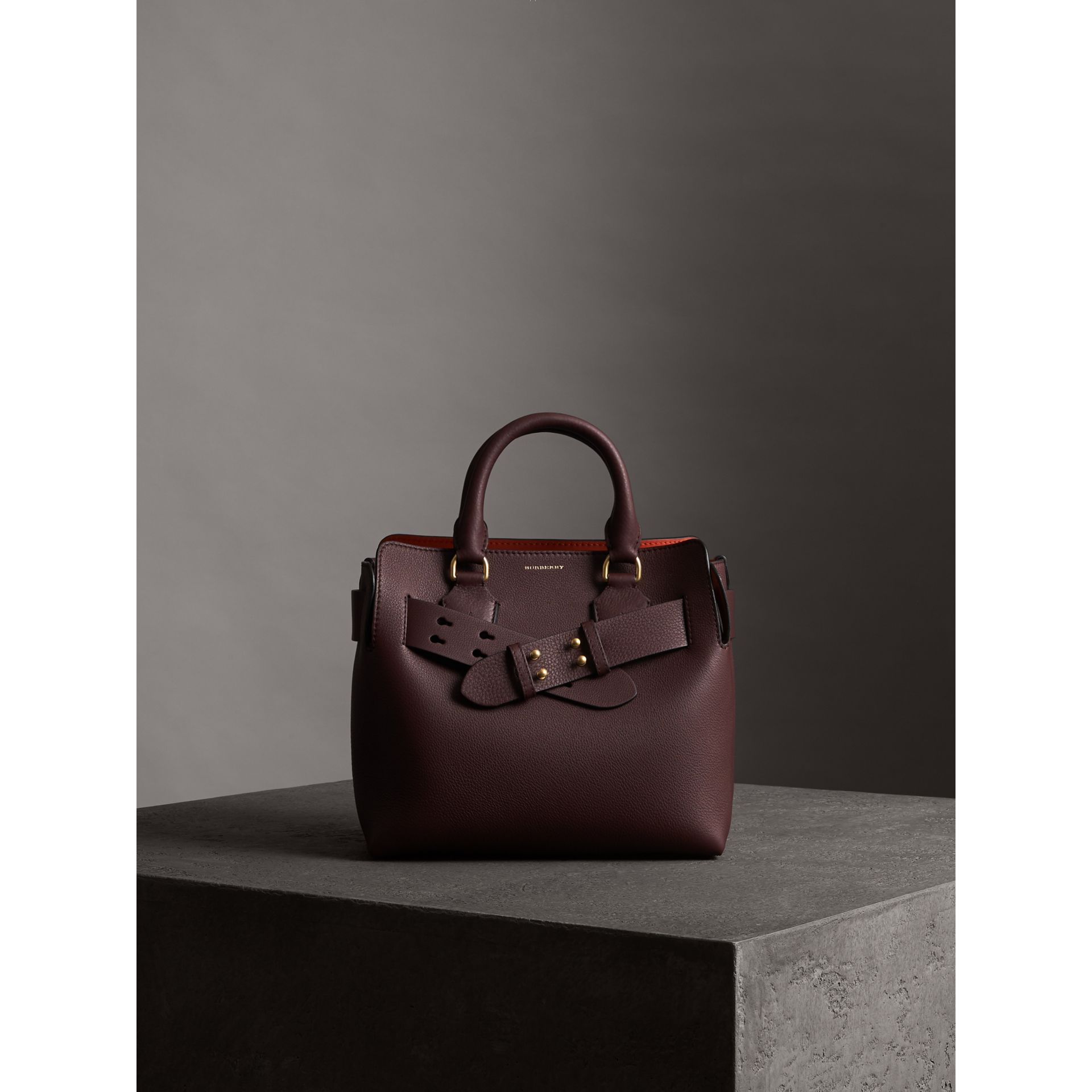 The Small Belt Bag Grainy Leather Belt in Deep Claret - Women | Burberry - gallery image 5