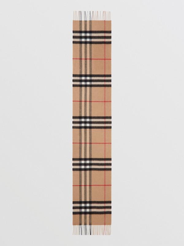 Классический шарф из кашемира в клетку (Песок) - Для женщин | Burberry - cell image 3