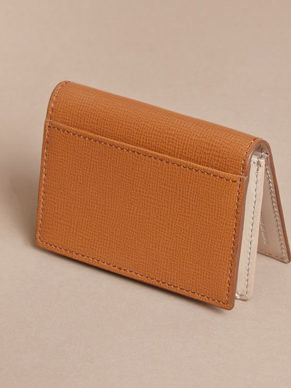 London Leather Folding Card Case in Tan - Men | Burberry - cell image 2