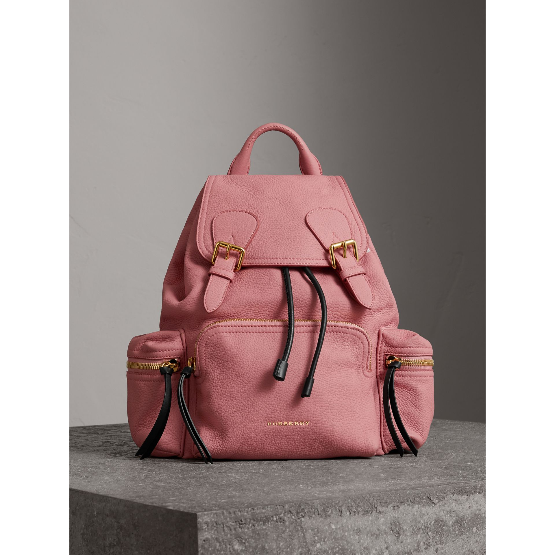 The Medium Rucksack in Deerskin with Resin Chain in Blossom Pink - Women | Burberry Australia - gallery image 5