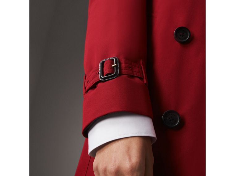 The Kensington – Long Trench Coat in Parade Red - Women | Burberry - cell image 4