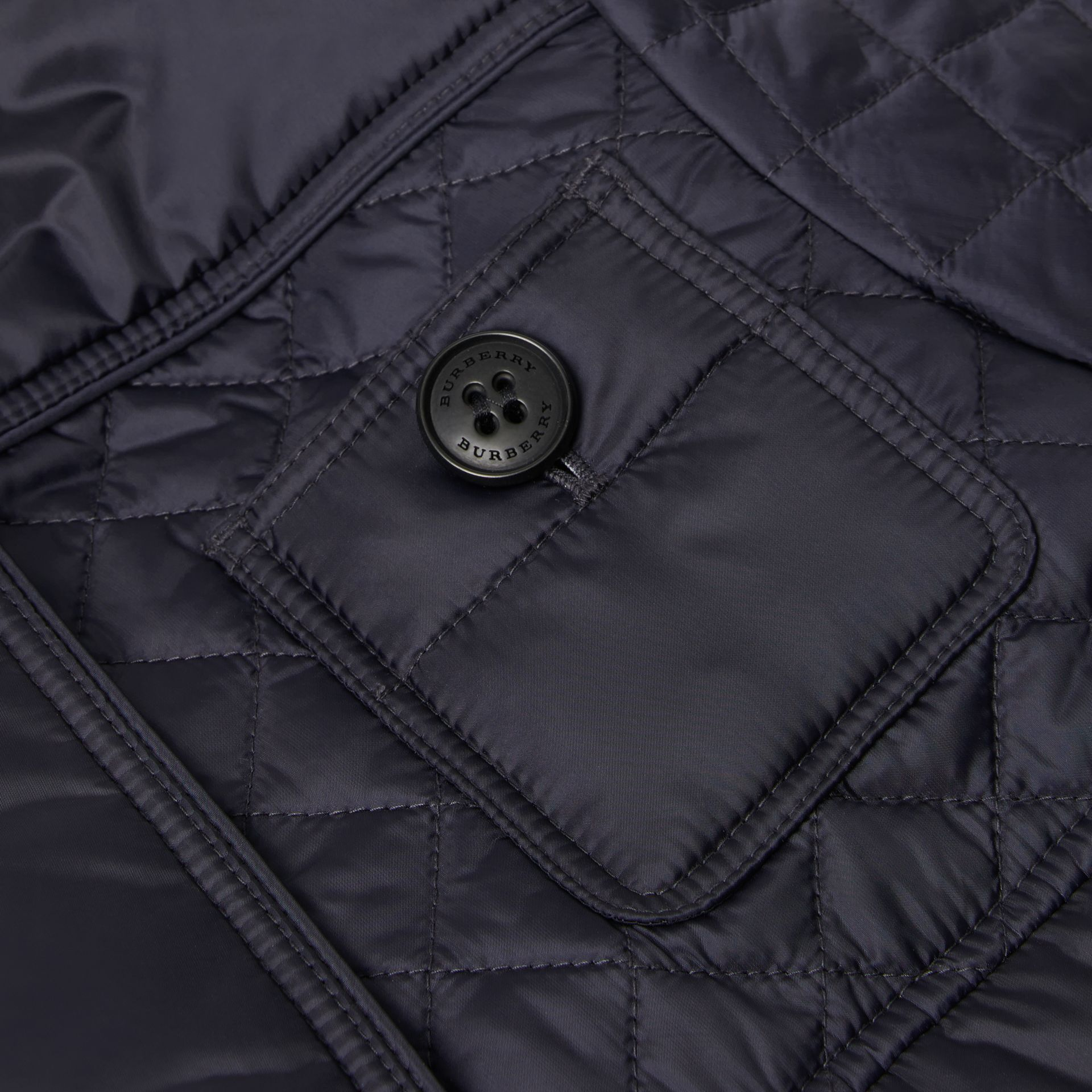 Lightweight Diamond Quilted Jacket in Navy | Burberry - gallery image 1