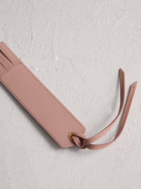 Embossed Leather Bookmark in Pale Ash Rose | Burberry United Kingdom - cell image 2