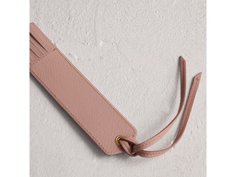 Embossed Leather Bookmark in Pale Ash Rose | Burberry - cell image 2