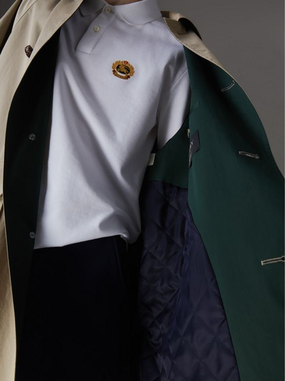 Reissued Waxed Cotton Gabardine Car Coat in Khaki - Men | Burberry Hong Kong - cell image 1