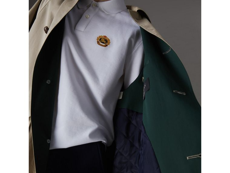 Reissued Waxed Cotton Gabardine Car Coat in Khaki - Men | Burberry - cell image 1