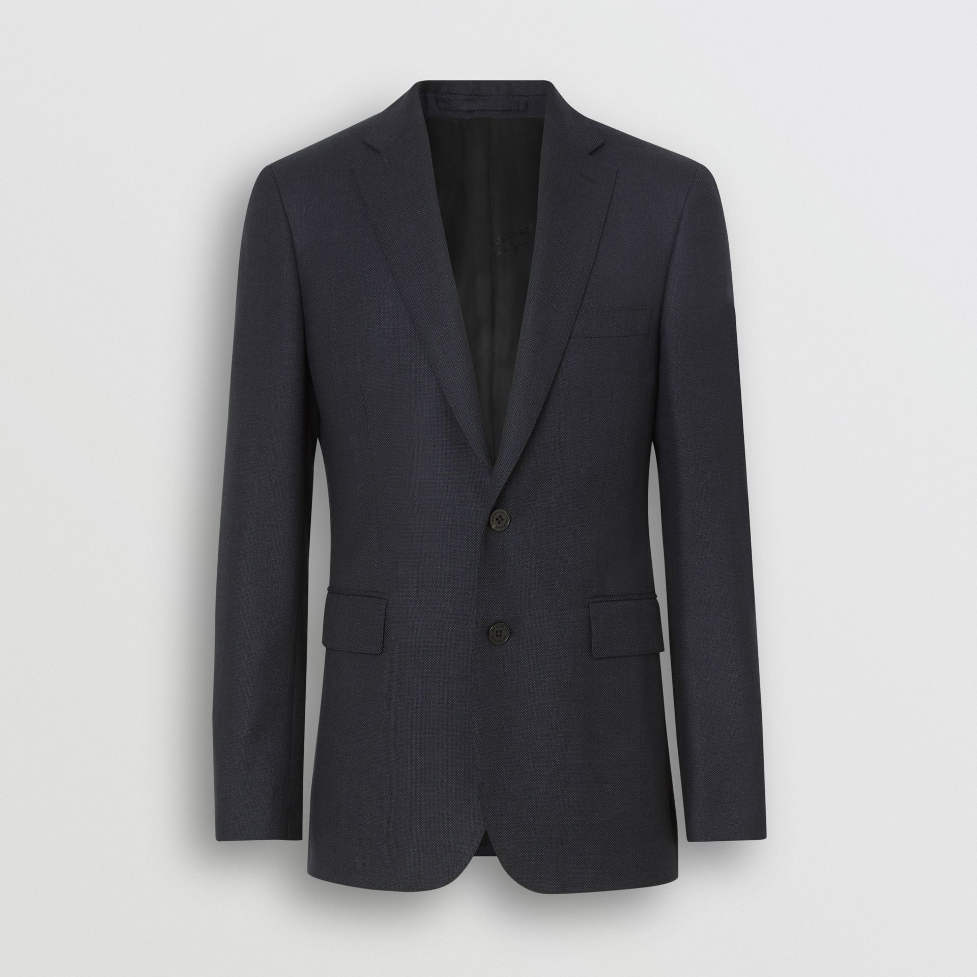 Slim Fit Birdseye Wool Suit in Navy - Men | Burberry Canada - gallery image 3