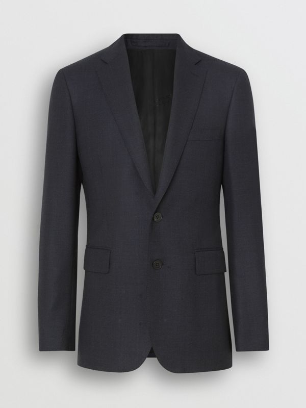 Slim Fit Birdseye Wool Suit in Navy - Men | Burberry Canada - cell image 3