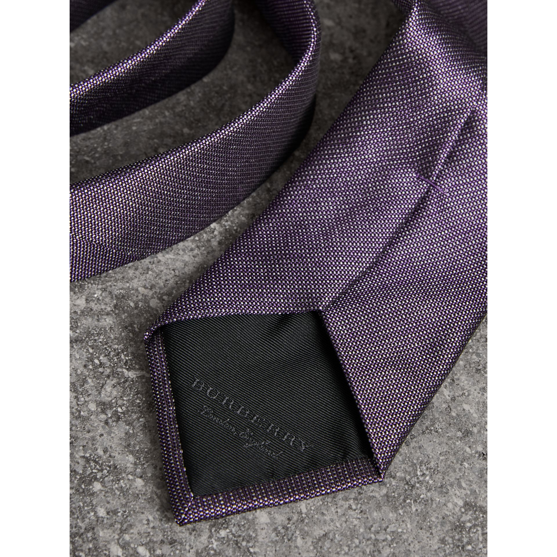 Modern Cut Silk Tie in Lilac - Men | Burberry United Kingdom - gallery image 1