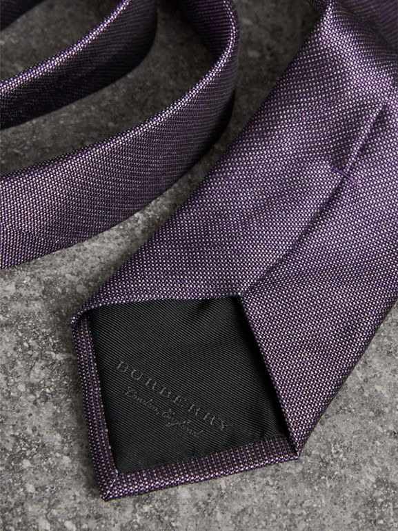 Modern Cut Silk Tie in Lilac - Men | Burberry Australia - cell image 1