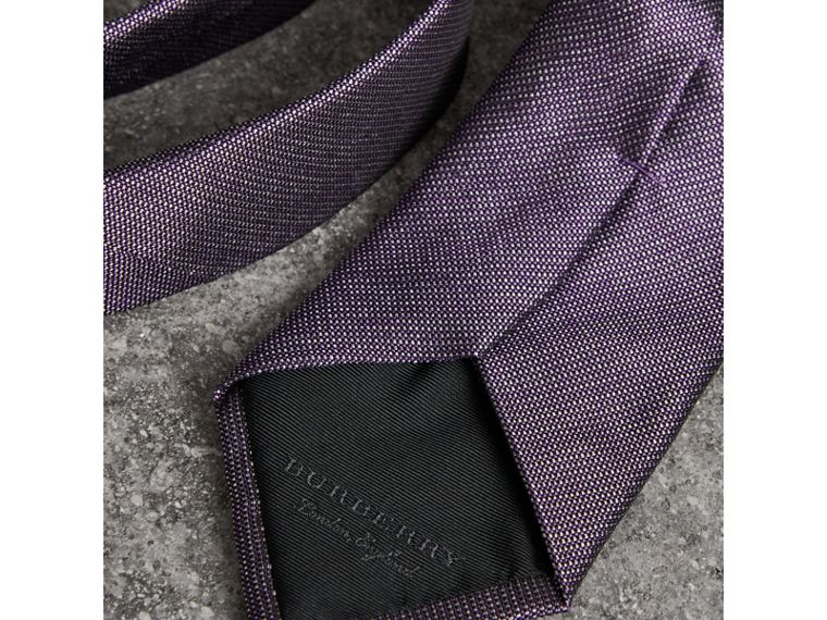 Modern Cut Silk Tie in Lilac - Men | Burberry United Kingdom - cell image 1