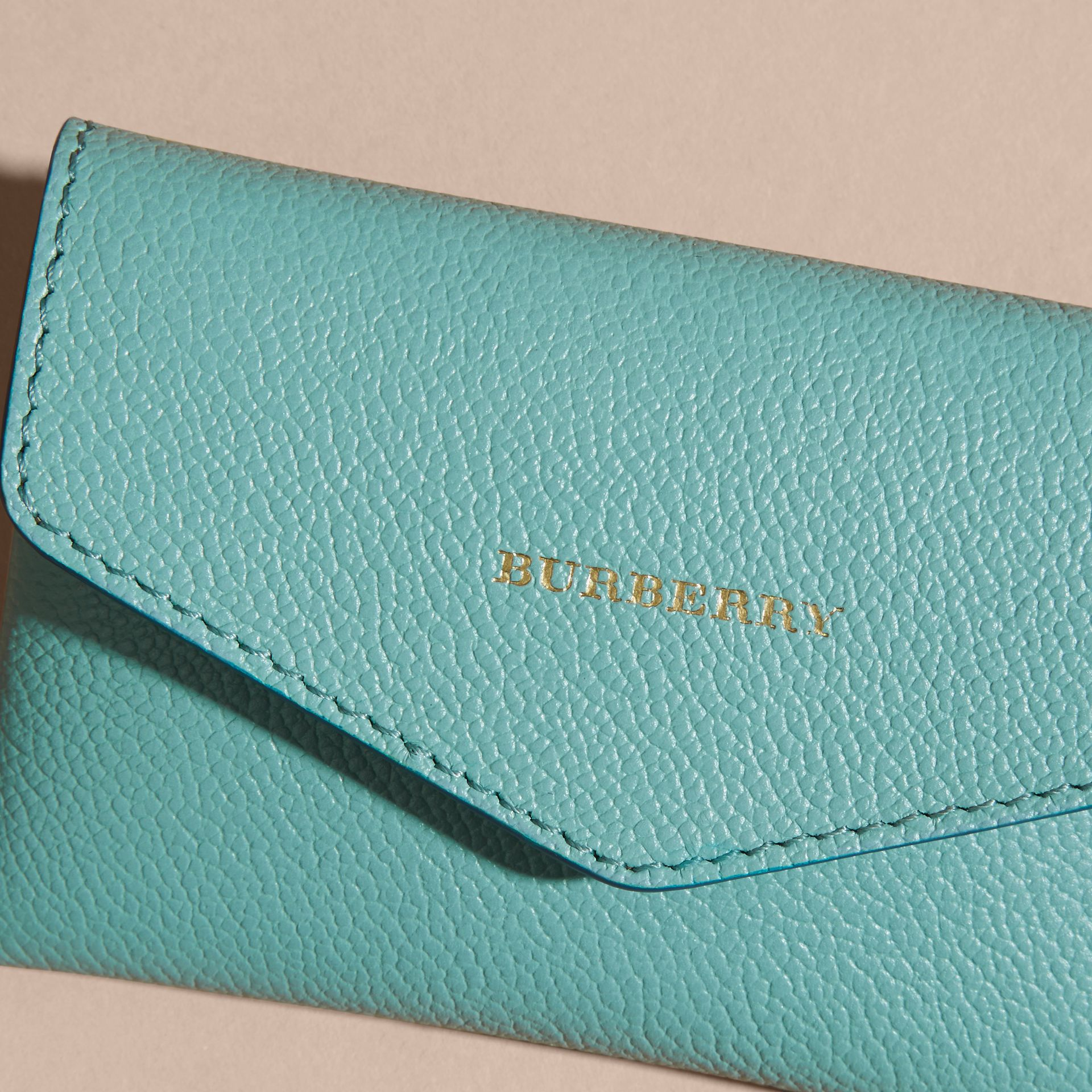 Grainy Leather Playing Card Case in Pale Opal | Burberry - gallery image 2