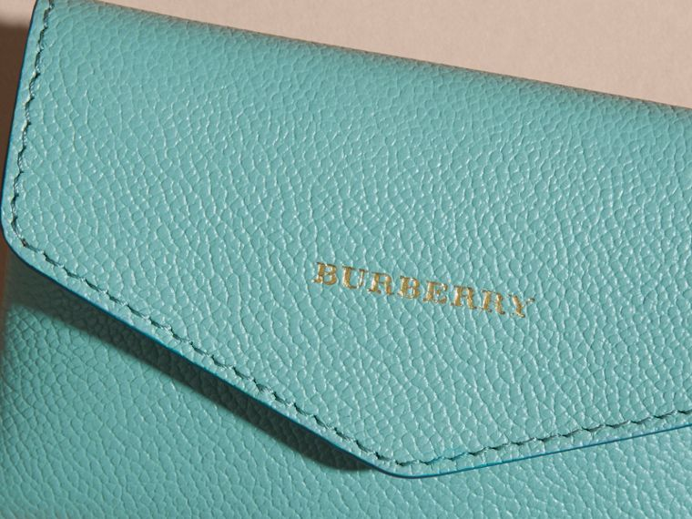 Grainy Leather Playing Card Case in Pale Opal | Burberry - cell image 1