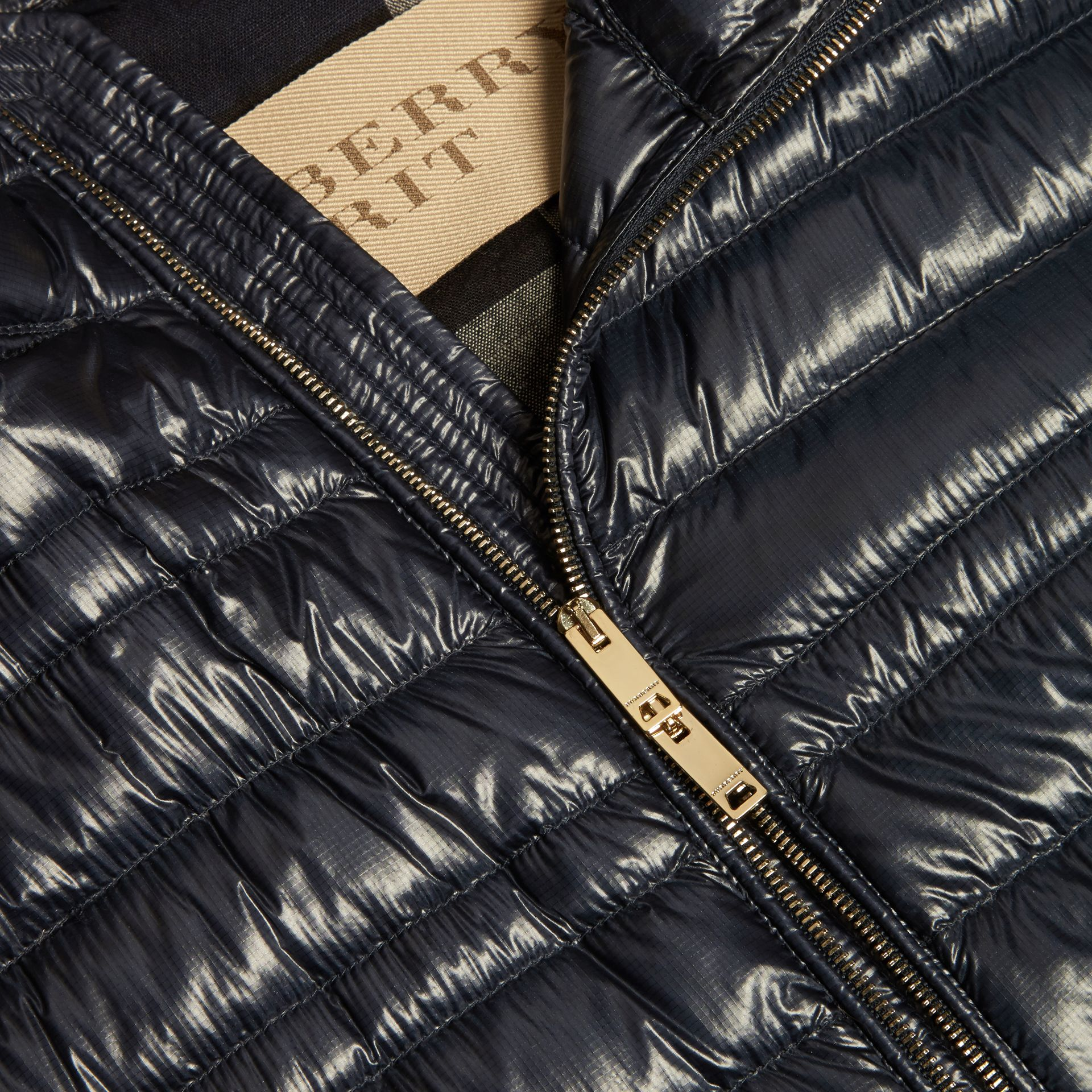 Navy Lightweight Down-filled Gilet - gallery image 2