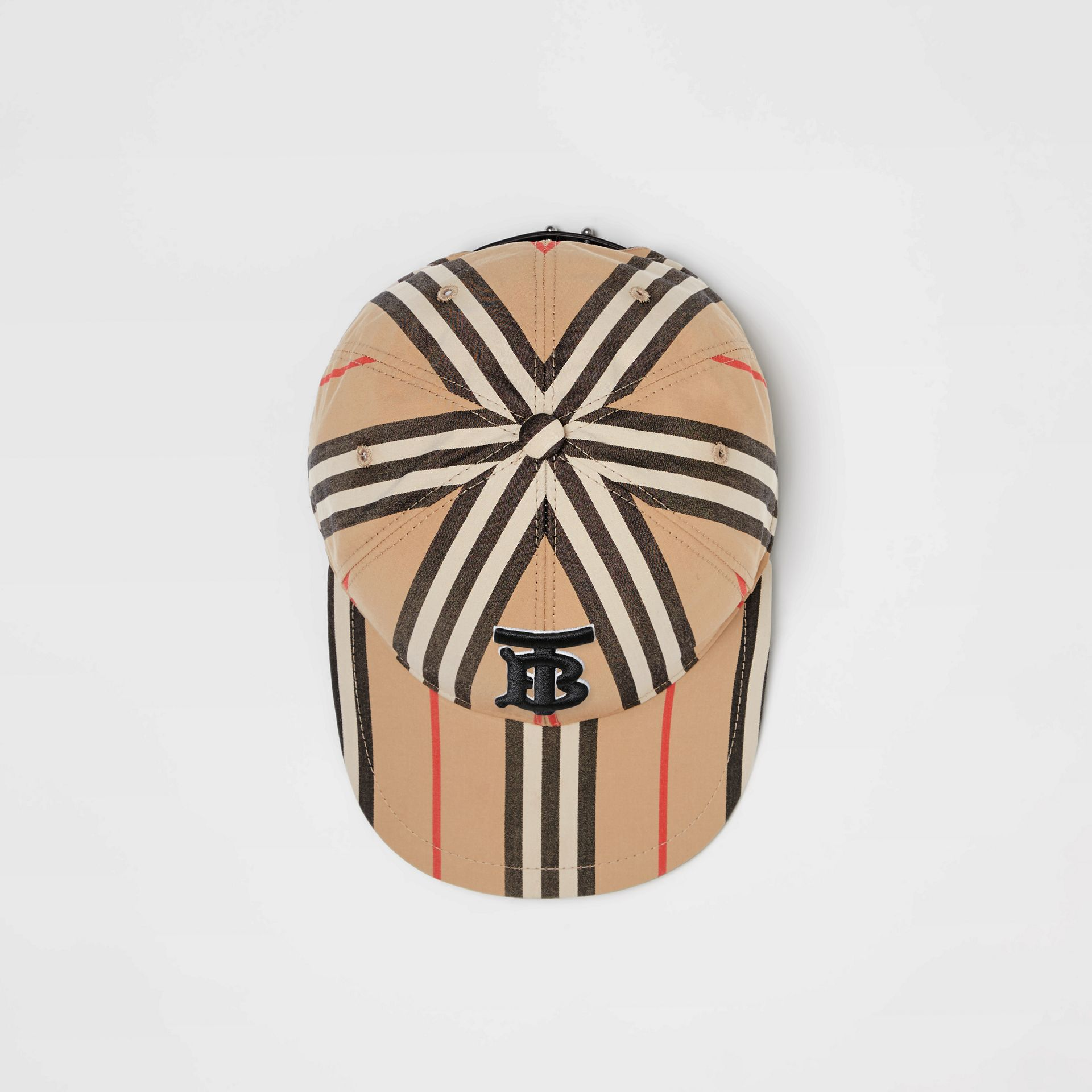 Icon Stripe Baseball Cap in Archive Beige | Burberry - gallery image 0