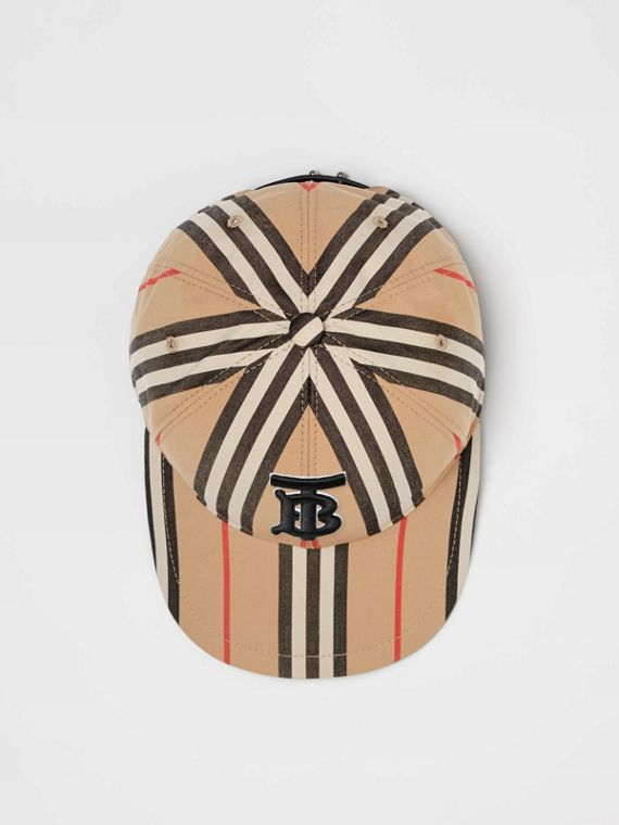 Icon Stripe Baseball Cap in Archive Beige