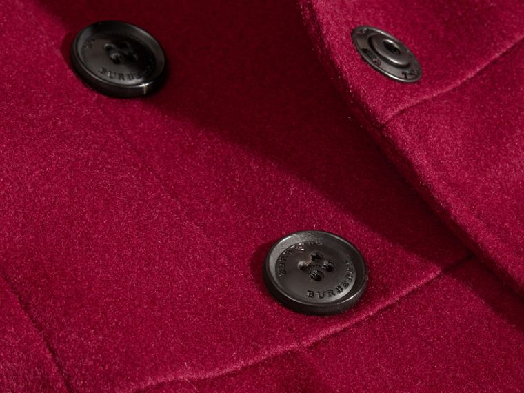 Cherry pink Cashmere Military Coat Cherry Pink - cell image 1