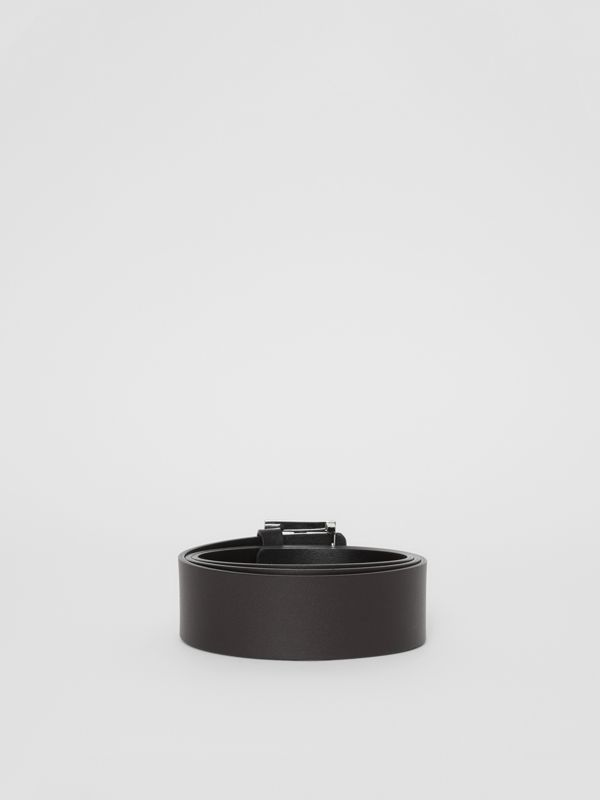 Reversible Monogram Motif Leather Belt in Black/malt Brown - Men | Burberry - cell image 3
