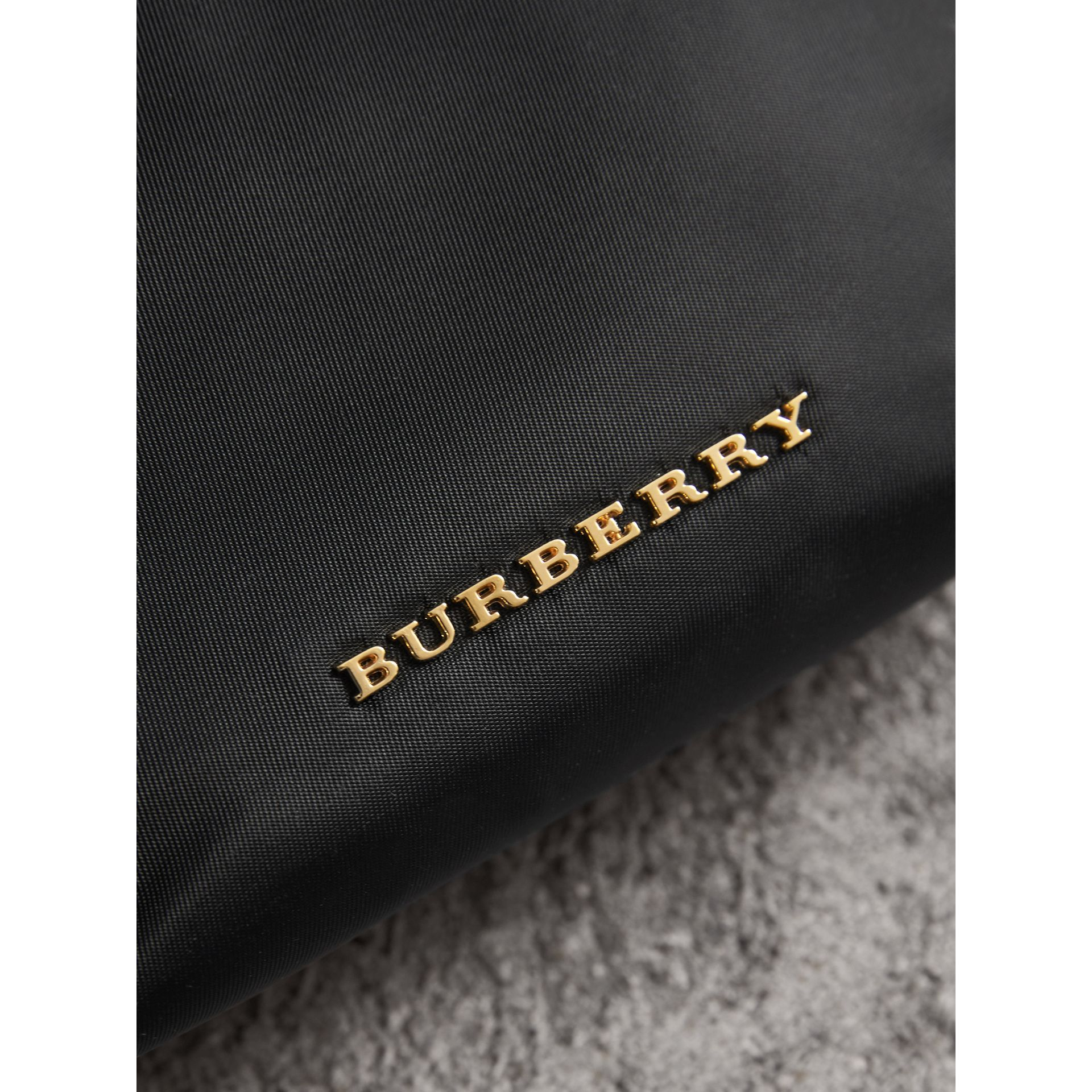 Small Zip-top Technical Nylon Pouch in Black - Women | Burberry - gallery image 4