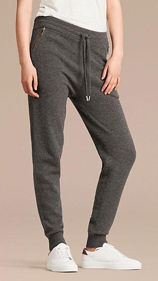 Knitted Cashmere Cotton Joggers