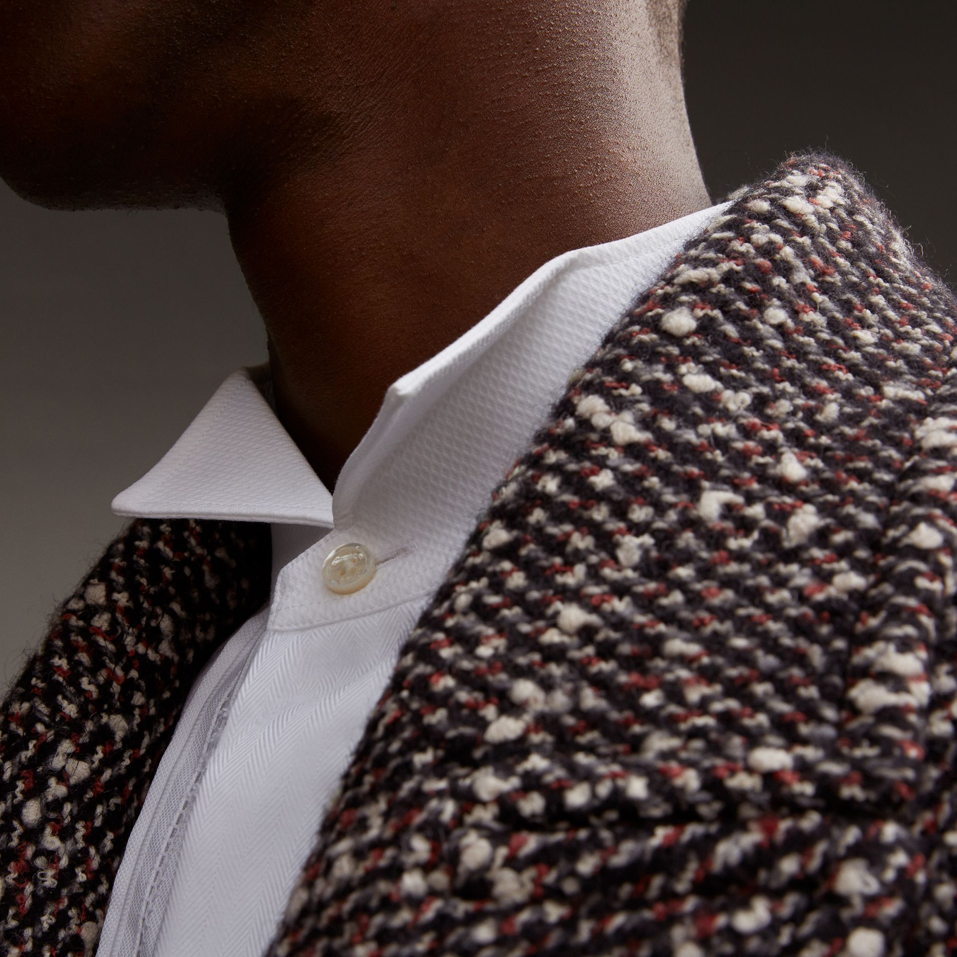 Wool Mohair Blend Tweed Topcoat - Men | Burberry - gallery image 5