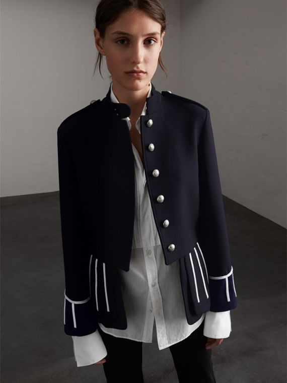 Cord Detail Wool Military Jacket - Women | Burberry Hong Kong