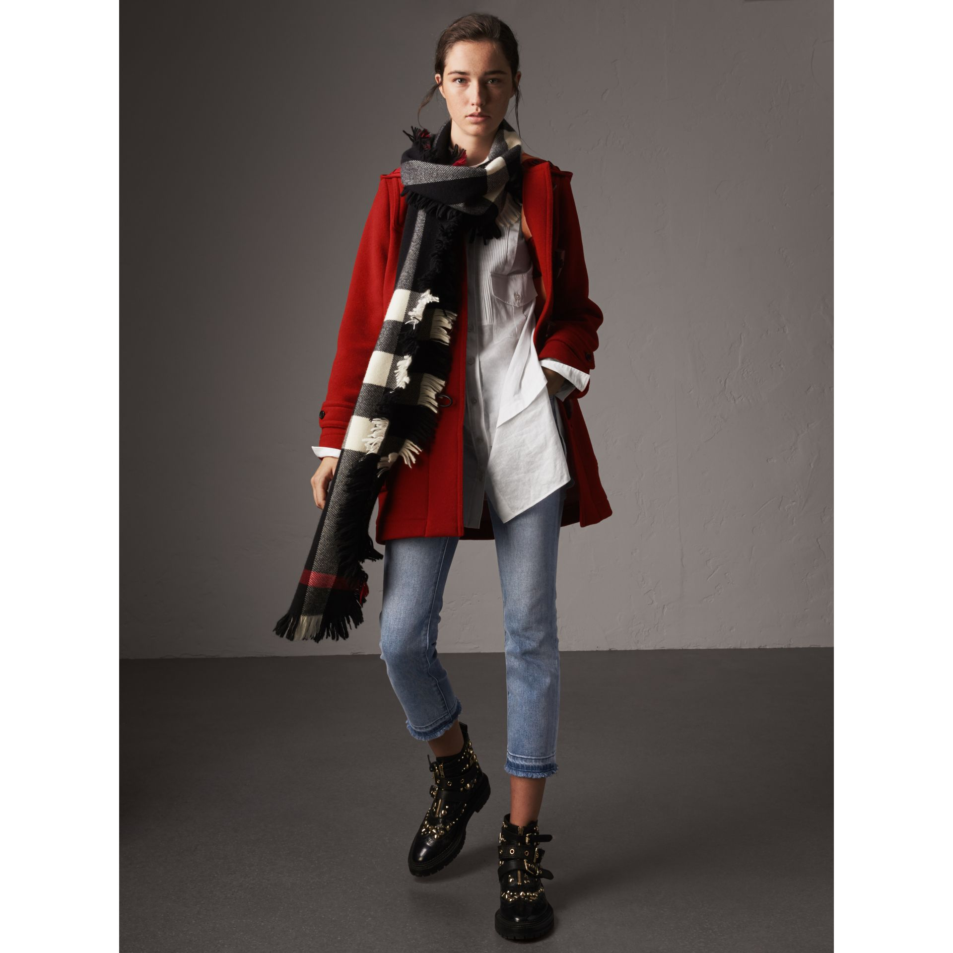 The Mersey Duffle Coat in Parade Red - Women | Burberry - gallery image 7