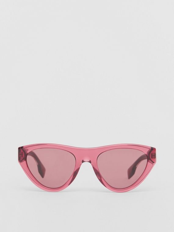 Triangular Frame Sunglasses in Cranberry