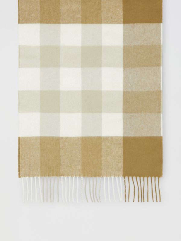 Check Cashmere Scarf in Deep Olive | Burberry United States - cell image 3
