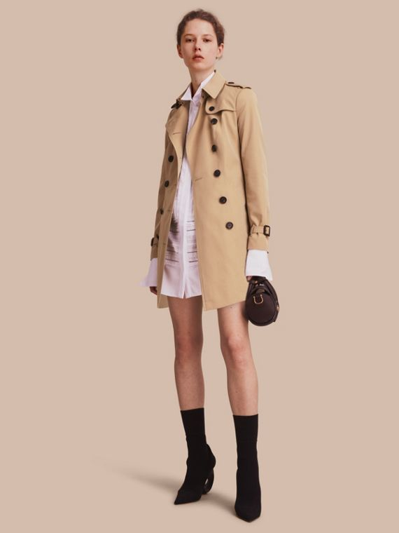 The Sandringham - Trench coat Heritage médio Mel
