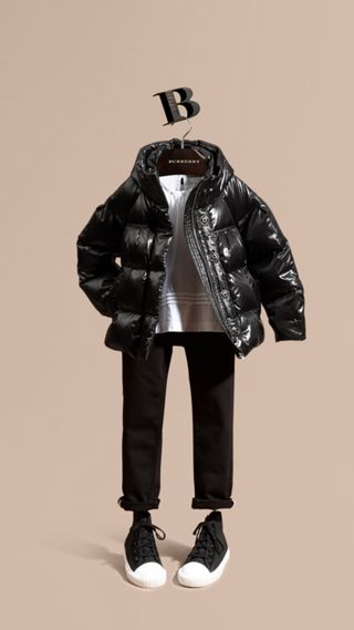 High-shine Down-filled Puffer Coat
