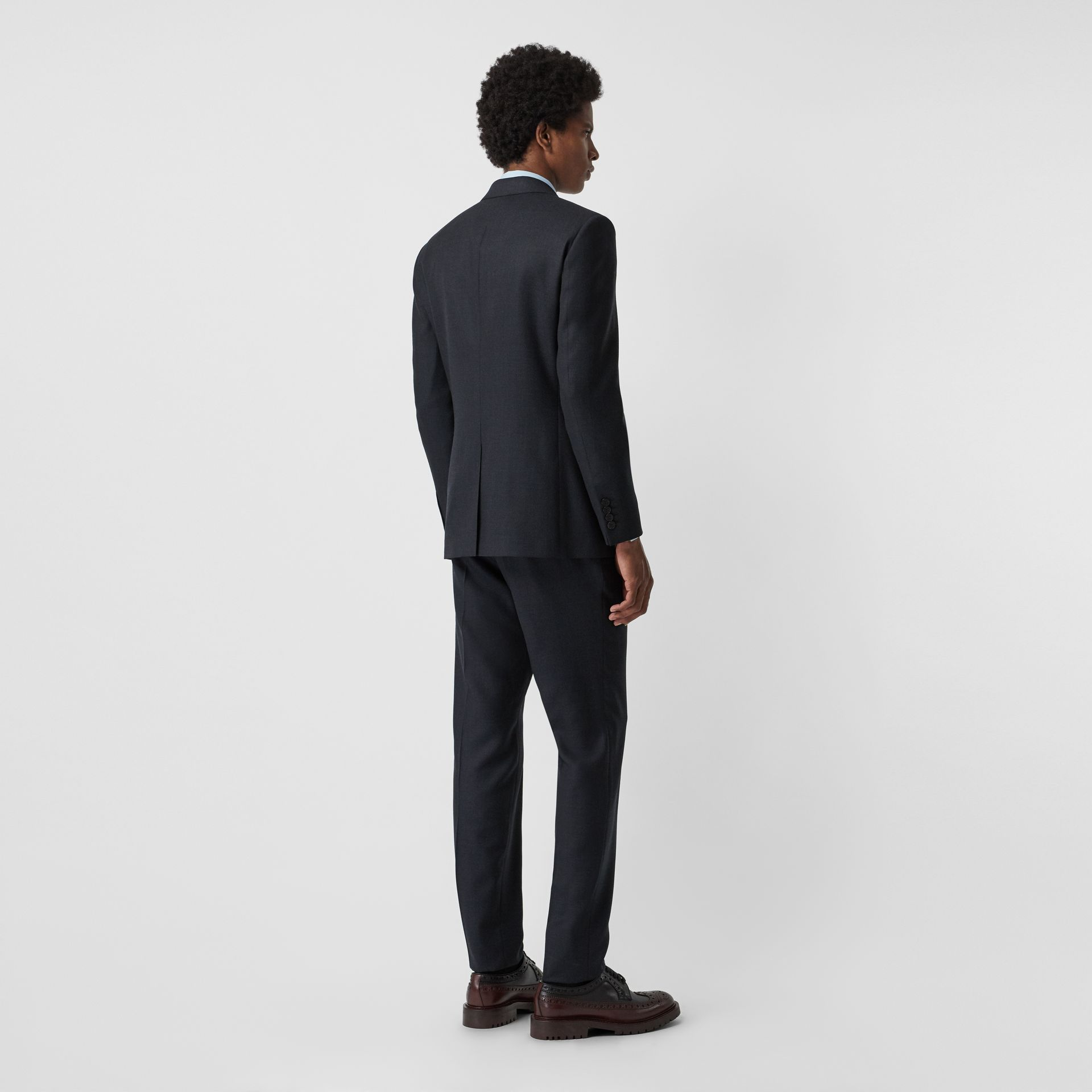 Slim Fit Birdseye Wool Suit in Navy - Men | Burberry United Kingdom - gallery image 2