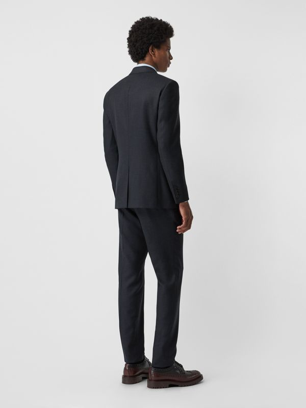 Slim Fit Birdseye Wool Suit in Navy - Men | Burberry United States - cell image 2