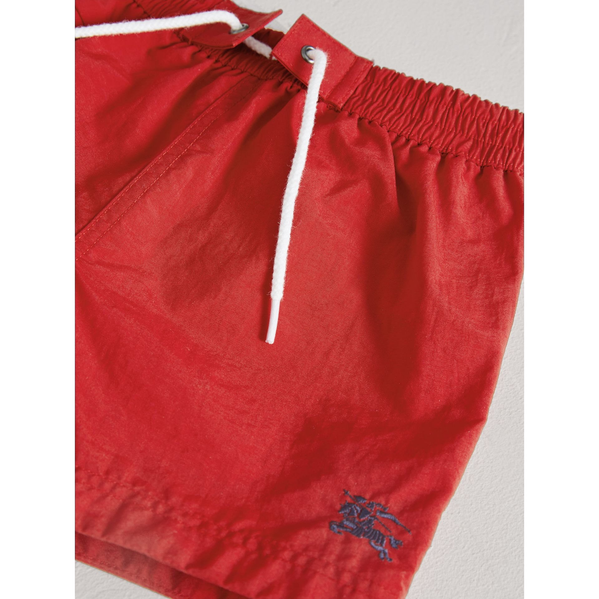 Lightweight Swim Shorts in Military Red | Burberry Canada - gallery image 1