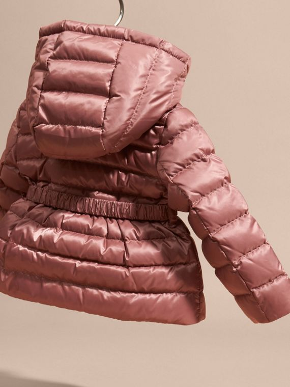 Antique rose Bow Detail Down-filled Puffer Jacket - cell image 3