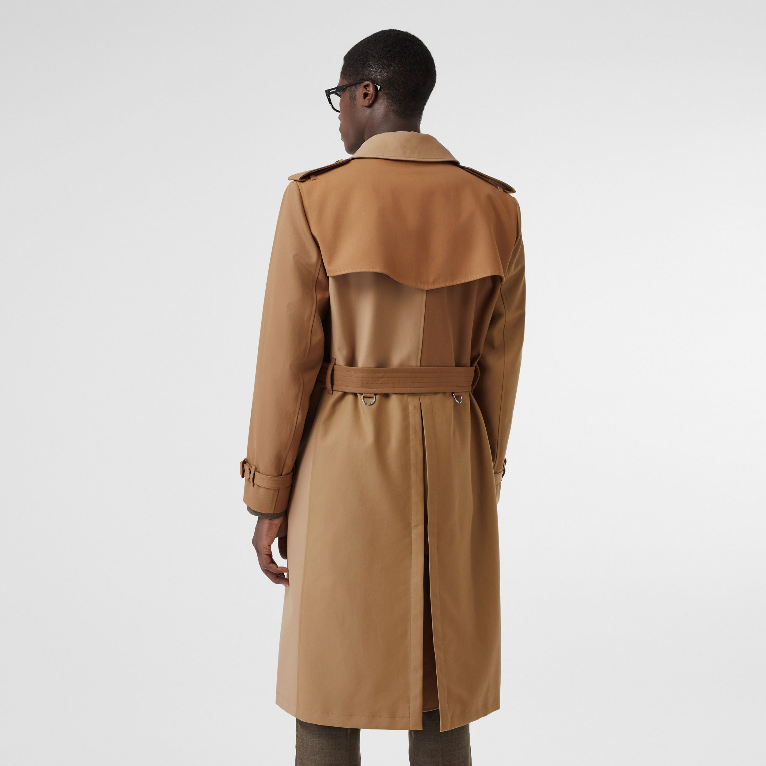 Panelled Cotton Trench Coat in Warm Camel - Men | Burberry - 3