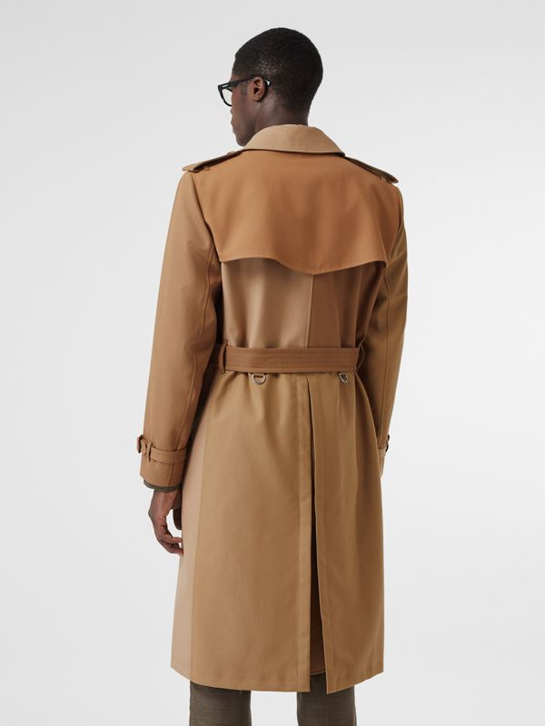 Panelled Cotton Trench Coat in Warm Camel - Men | Burberry Singapore - cell image 2