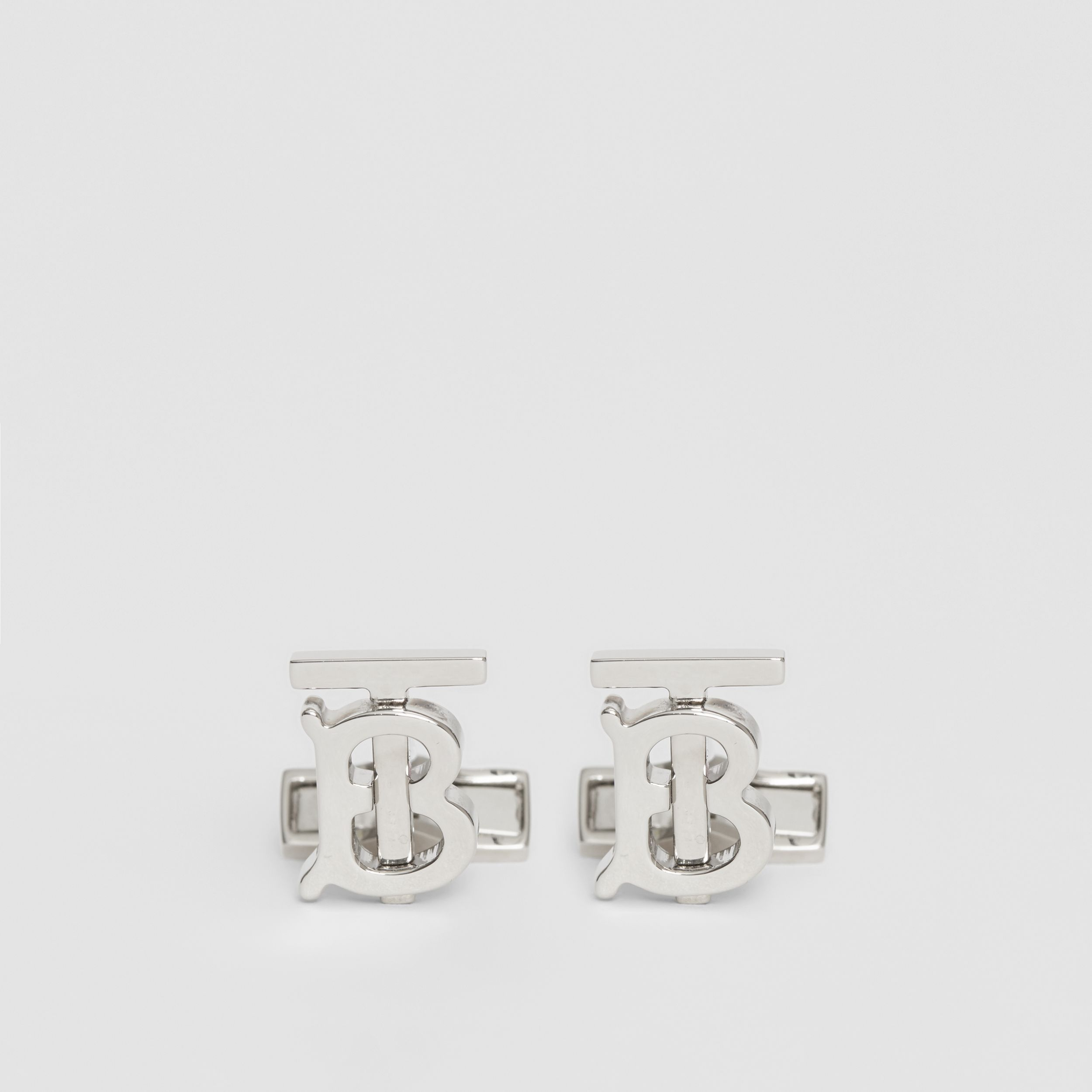 Monogram Motif Palladium-plated Cufflinks - Men | Burberry Hong Kong S.A.R. - 1