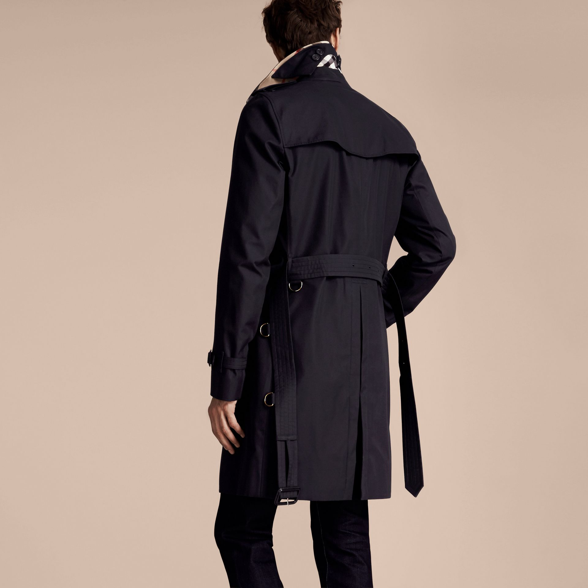 Navy The Kensington – Long Heritage Trench Coat Navy - gallery image 3
