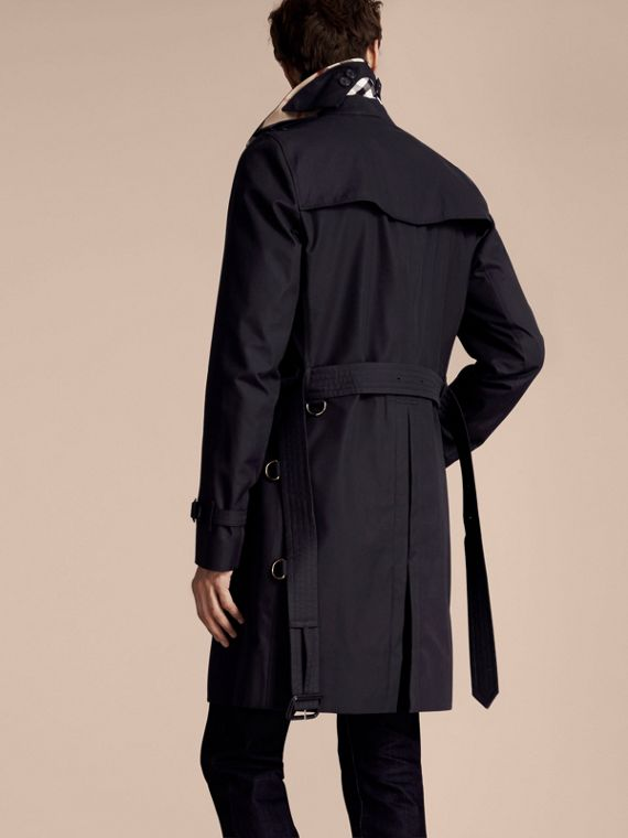Navy The Kensington – Long Heritage Trench Coat Navy - cell image 2