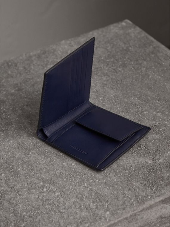 London Check International Bifold Wallet in Bright Lapis - Men | Burberry Australia - cell image 3